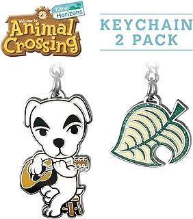 Controller Gear Animal Crossing: New Horizons K.Slider & Tom Nook Leaf Keychain Bundle [2 Pack] - Authentic & Official Nin...