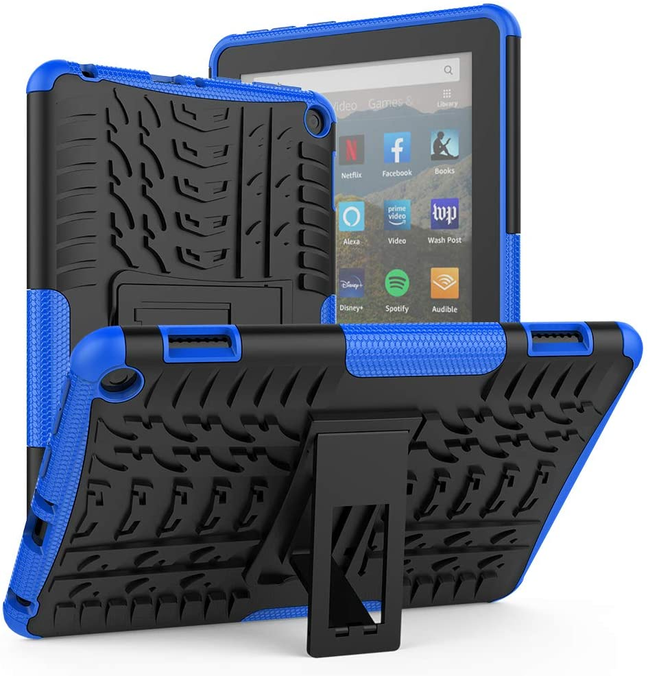 ROISKIN for Kindle Fire HD 8 Case 2020 Release 10th Generation Fire 8 Plus Case, Dual Layer Anti-Slip Shockproof Armor Case with Kickstand