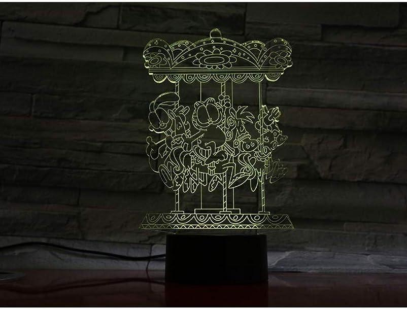 アレンジグレートオークウェブ3DイリュージョンアミューズメントパークLEDランプタッチセンサー7色のランプベッドルームベッドサイドアクリル装飾的なデスクランプキッズフェスティバル誕生日プレゼントのUSB充電