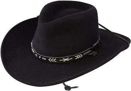 f9734d7ace1f4f Stetson Men's Santa Fe Crushable Wool Felt Hat