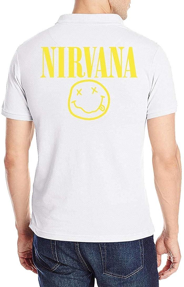 スカリー段階先ニルヴァーナ NIRVANA ロゴ ポロシャツメンズ半袖 モーション 花柄 通気性 贈り物 Tシャツ