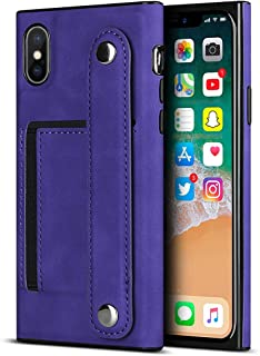 Custodia in PU per iPhone XS Max (6,5 pollici) (viola)