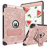 YINLAI Funda para iPad 8ª generación 2020, iPad 7ª generación 2019 (A2197/A2198/A2200), 3 en 1, antigolpes, color rosa y rosa