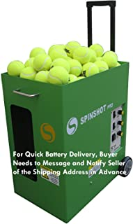 Spinshot Pro Tennis Ball Machine (The Best Model for Easy Use) [Leave Seller Message of Your Address for Quick Battery Delivery]