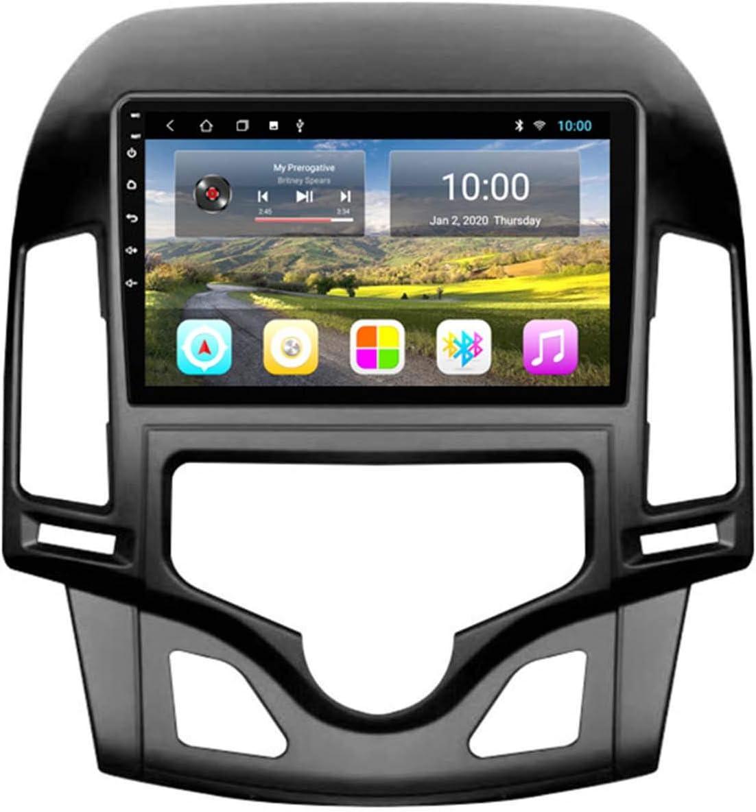 GPS 2G + 32GB Coche GPS Big Screen Reversing Video All-in-One Máquina Para 06-11 Navegación De Hyundai I30GPS, Notificación De Voz De Varias Condiciones De Tráf(Size:Automatic air conditioner 2G+32G )