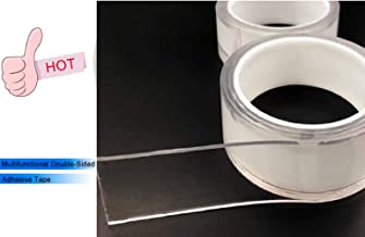 Jeval Transparent Double Sided Tape Washable Nano Transparent Gel Pad Anti-slip Multifunction Non-slip Sticker 1 M