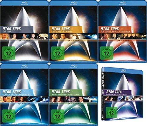 Star Trek RAUMSCHIFF ENTERPRISE Kinofilm Collection ORIGINAL CREW / CAPTAIN KIRK 6 BLU-RAY Edition