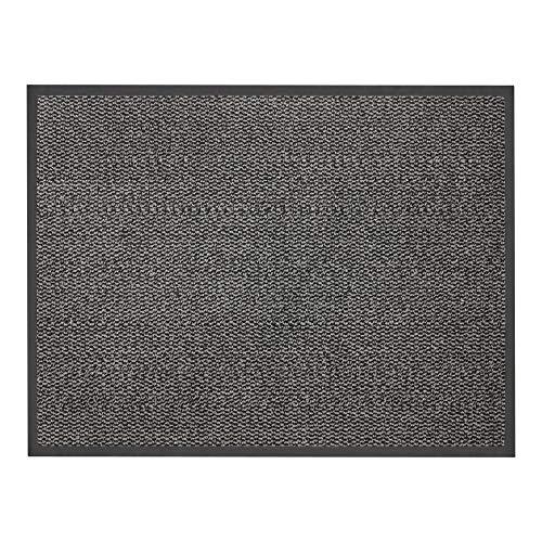 JVL Tapis de Sol très résistant, antidérapant 80 x 60 cm Gris/Noir