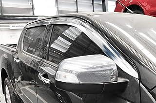 dal 2012 4 p Kit 4 Deflettori Aria Antivento Farad Anteriori//Posteriori Ford Ranger