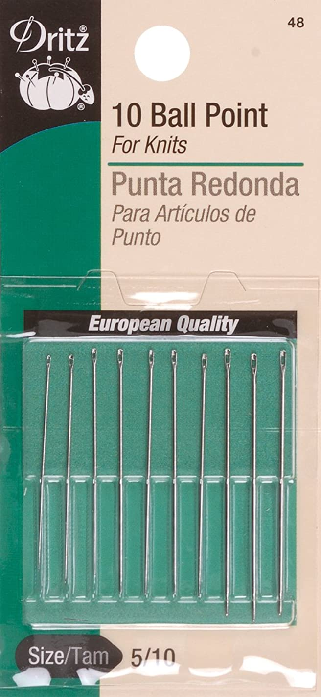 Dritz 48 Ball Point Hand Needles, Size 5/10 (10-Count)