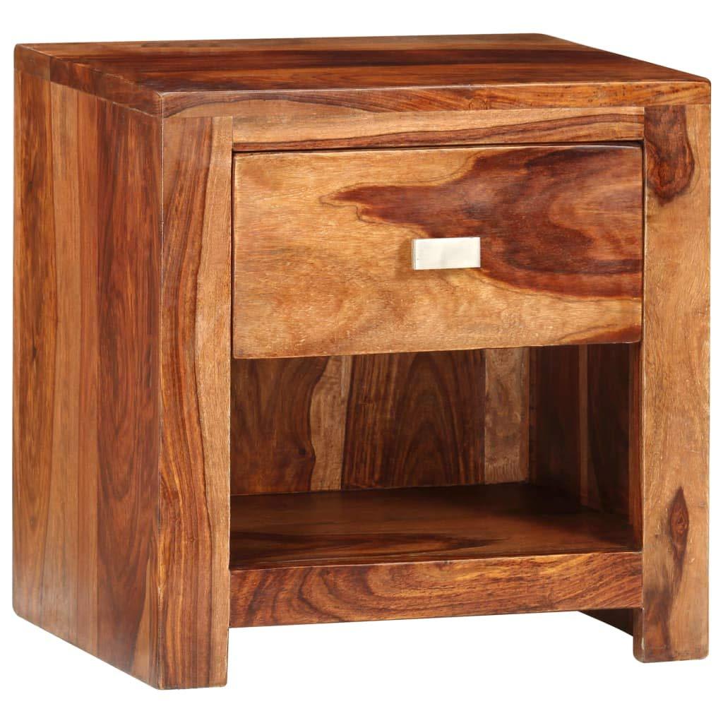 2x Table de chevet Effet bois de cerisier 40x50x35 cm Table de nuit Rangement