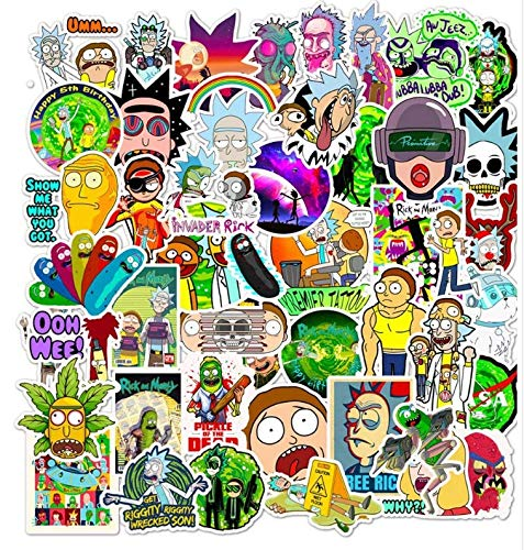 Don'T Repeat Rick And Morty 50 Waterproof Cartoon Stickers