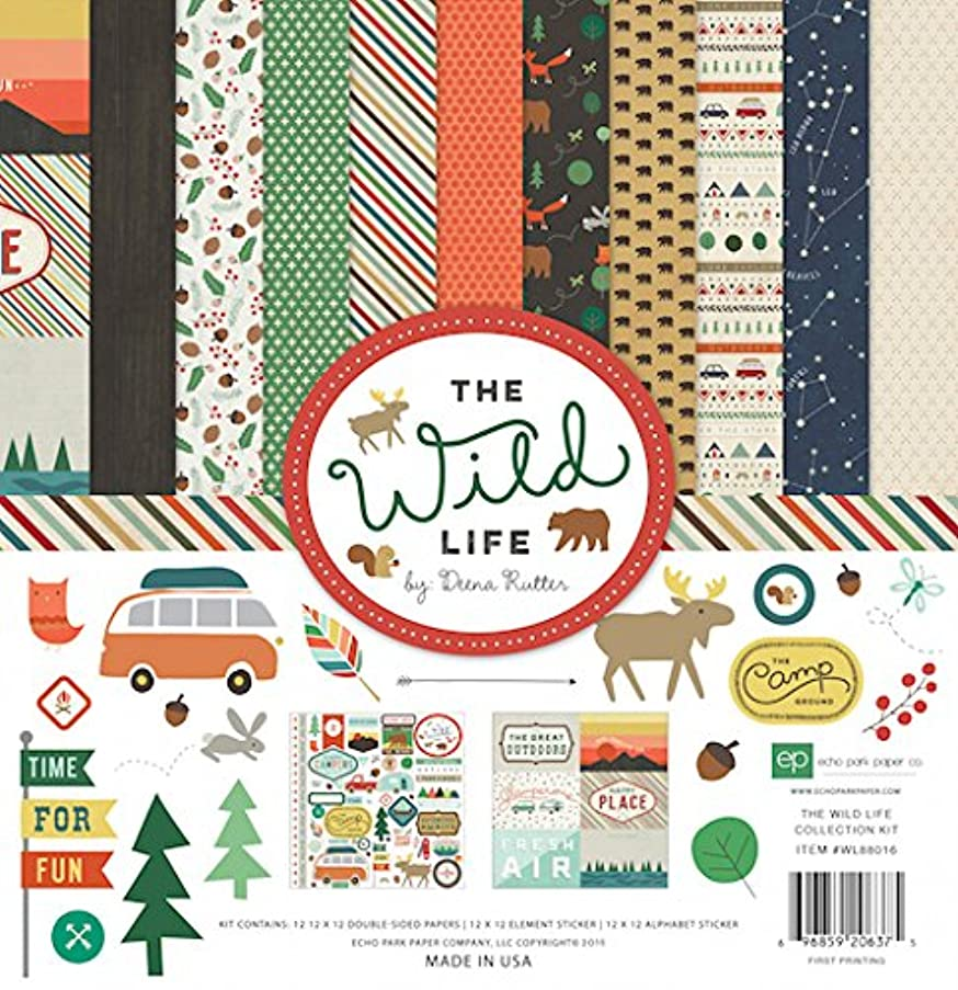 Echo Park Paper Company WL88016 The Wild Life Collection Kit