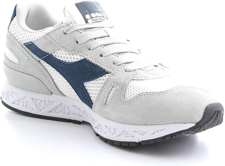 Diadora Men's 50117432475040 Grey Suede Sneakers