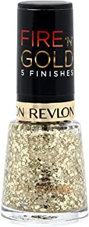 Revlon Womens Fire 'N' Gold 5 Finishes Nail Enamel, Gold Sparkle, 8 ml