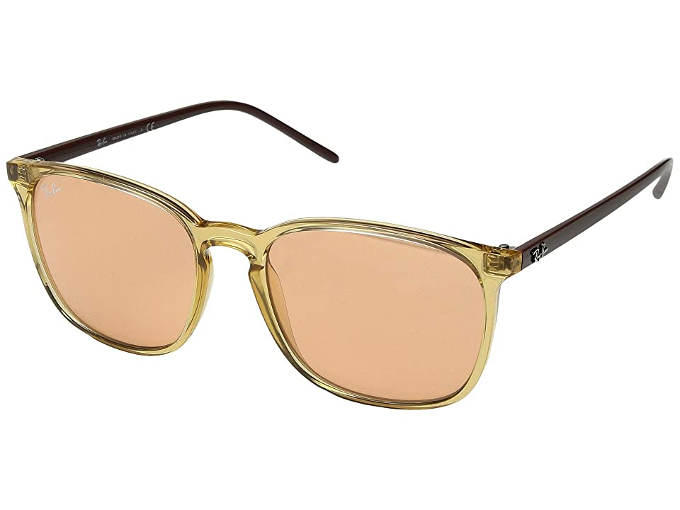 Ray-Ban RB4387 56 mm. (Transparent Light Brown/Orange) Fashion Sunglasses