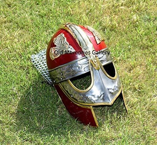 Viking masker helm W/Chainmail middeleeuwse pantser rol spelen kostuum helm replica