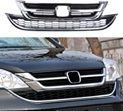 MotorFansClub Front Bumper Grille ABS Black Chrome Grill for Honda CRV CR-V 2010 2011 Hood Mesh Grill with ABS Material, Black