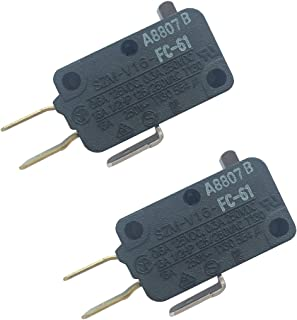 LONYE SZM-V16-FC-61 W10727360 Microwave Switch for Whirlpool Maytag Amana Microwave W10727360VP AP5950105 PS10057151 (SPDT)(Pack of 2)