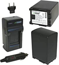 Wasabi Power Battery (2-Pack) and Charger for Canon BP-827 and Canon VIXIA HF20, HF21, HF200, HF G10, HF G20, HF M30, HF M31, HF M32, HF M40, HF M41, HF M300, HF M400, HF S10, HF S11, HF S20, HF S21, HF S30, HF S100, HF S200, HG20, HG21, XA10