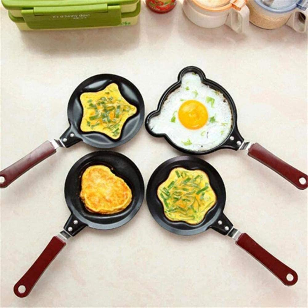 LTE Kitchen Tool Multi-Style Non-Stick Omelette Omelette Mold Handheld Omelette Pan Frying Pan Cooking Accessories,F C
