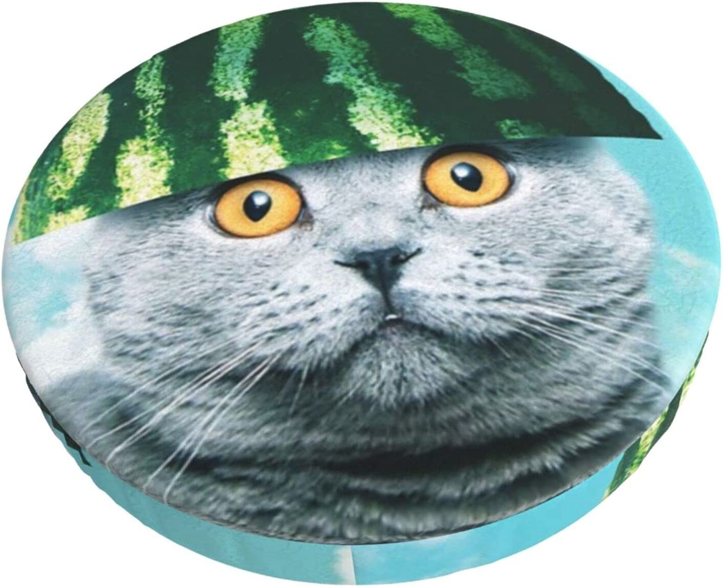 Outstanding Funny Watermelon Cat Sky Cute Round Bar Lounge Pa Stool Club Over item handling