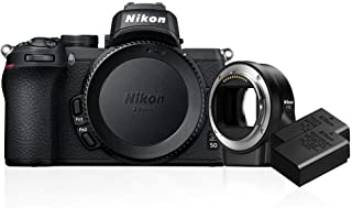Nikon Z 50 Body with FTZ Adapter with Additional EN-EL25 Battery, Black