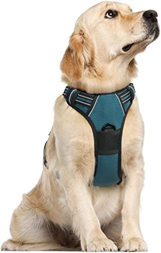 rabbitgoo Dog Harness, No Pull Harness for Large Dogs, Adjustable Dog Vest Harness with Front & Back Leash Clips, Ref...