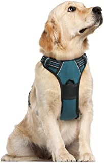 rabbitgoo Dog Harness, No Pull Harness for Large Dogs, Adjustable Dog Vest Harness with Front & Back Leash Clips, Reflecti...