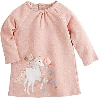Mud Pie Kids Girls Magical Unicorn Pink Shimmer Ragland Cotton Dress