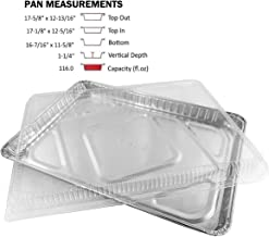 Handi-Foil Half 1/2 Size Sheet Cake Aluminum Foil Pan w/Clear Low Dome Lid (pack of 10)