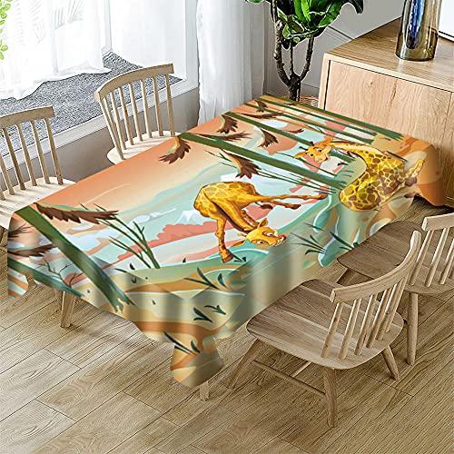Mantel navideño,Mantel Rectangular Impermeable poliéster para Festivas navideñas para la mayoría de Las mesas de tu hogar 150 x 250cm