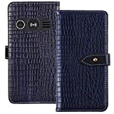 TienJueShi Dark Blue Luxury Flip Stand Leather TPU Silicone