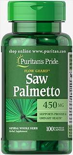 Puritans Pride Saw Palmetto 450 Mg Capsules, 100 Count