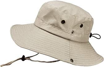 XGao Fishing Hats for Men, Bucket Hats for Men, Bucket Hat, Bucket Hat Summer Outdoor Sun Protection Boonie Cap Solid Adjustable Fishing Fisherman Caps Sunscreen Outdoors Visor (Beige)