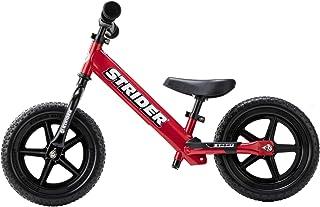 Strider 12 Sport - Bicicleta sin Pedales Ultraligera - para niños de 18 Meses, 2,3, 4 y 5 años, sillín Ajustable, 12 Pulgadas (Rojo)