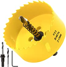 Acekit 3 inch Hole Saw With 3/8 Arbor HSS Bi-Metal Hole Saw Blade And Variable Teeth Pitch For Wood,Plastic Board,Pipe,Plywood,And Soft Metal Sheet (76mm)