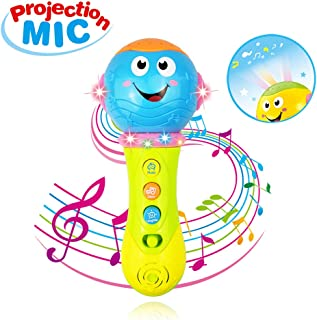 SUNNYPIG Music Microphone Toy for 1-3 Year Old Baby Boy Girl Kids- Best Christmas Birthday Gift