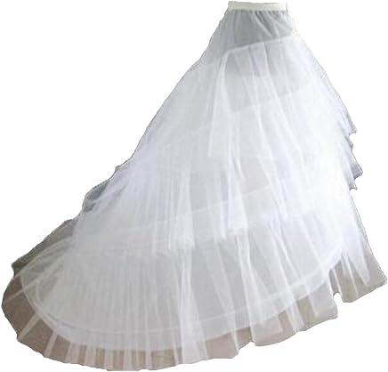e971f132d16 TC Bride Women s A-line 2-Hoop Crinoline bridal Petticoats for Wedding Dress  white
