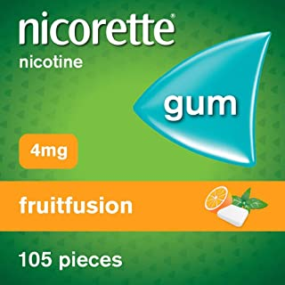Nicorette Gum - Fruitfusion, 4 mg, 105 Pieces – Stop Smoking Aid