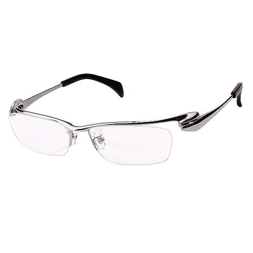 3a5f0b89d510 Agstum Pure Titanium Half Rim Optical Business Glasses Frame Clear Lens