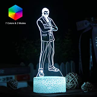 USB 3D Print Lamp The Reaper Battle Royale Night Lights Colorful Lava Lampen for Home Party Lampada led Souvenir Gifts (The Reaper Crackle Base)