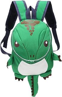 CAOLATOR Mochila para niños Mochila de guardería de dinosaurios de dibujos animados Mochila de nylon Mochilas escolares Mochila mini Niños para bebés Niños Niñas Niños pequeños Verde
