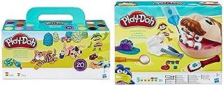 Play-Doh Pack 20 Botes, (Hasbro A7924EU8) + PDH Core