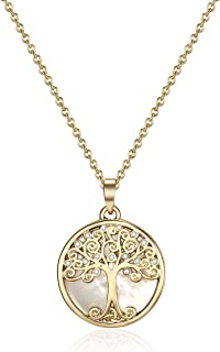 Mestige Women's Gold Willow Tree of Life Necklace - MSNE3544