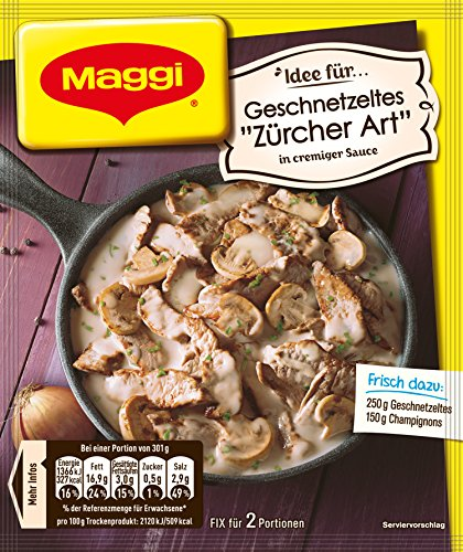 Maggi fix & frisch für Geschnetzeltes Züricher Art, 34er Pack (34 x 50 g)