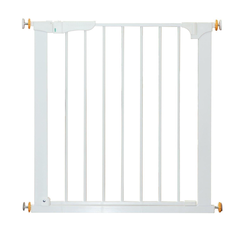 HOMCOM Puerta de Seguridad de Metal, Barrera de Seguridad Blanca de Escalera o Pasillo para Niños y Perros 74-95cm: Amazon.es: Productos para mascotas