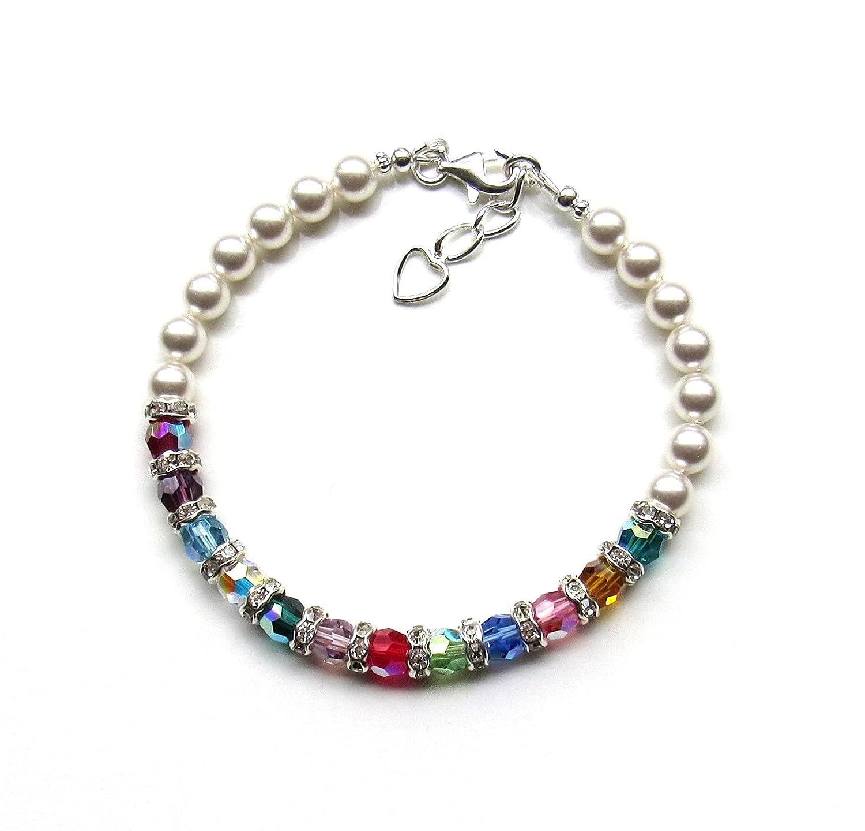 Grandmother Bracelet price with Birthstones Choose Birthston 18 to Indefinitely Up