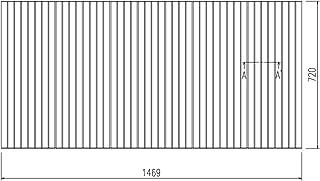 LIXIL INAX 風呂巻フタ 幅1,469×奥行720mm:BLS72146-K (風呂ふた、フロふた、風呂蓋)