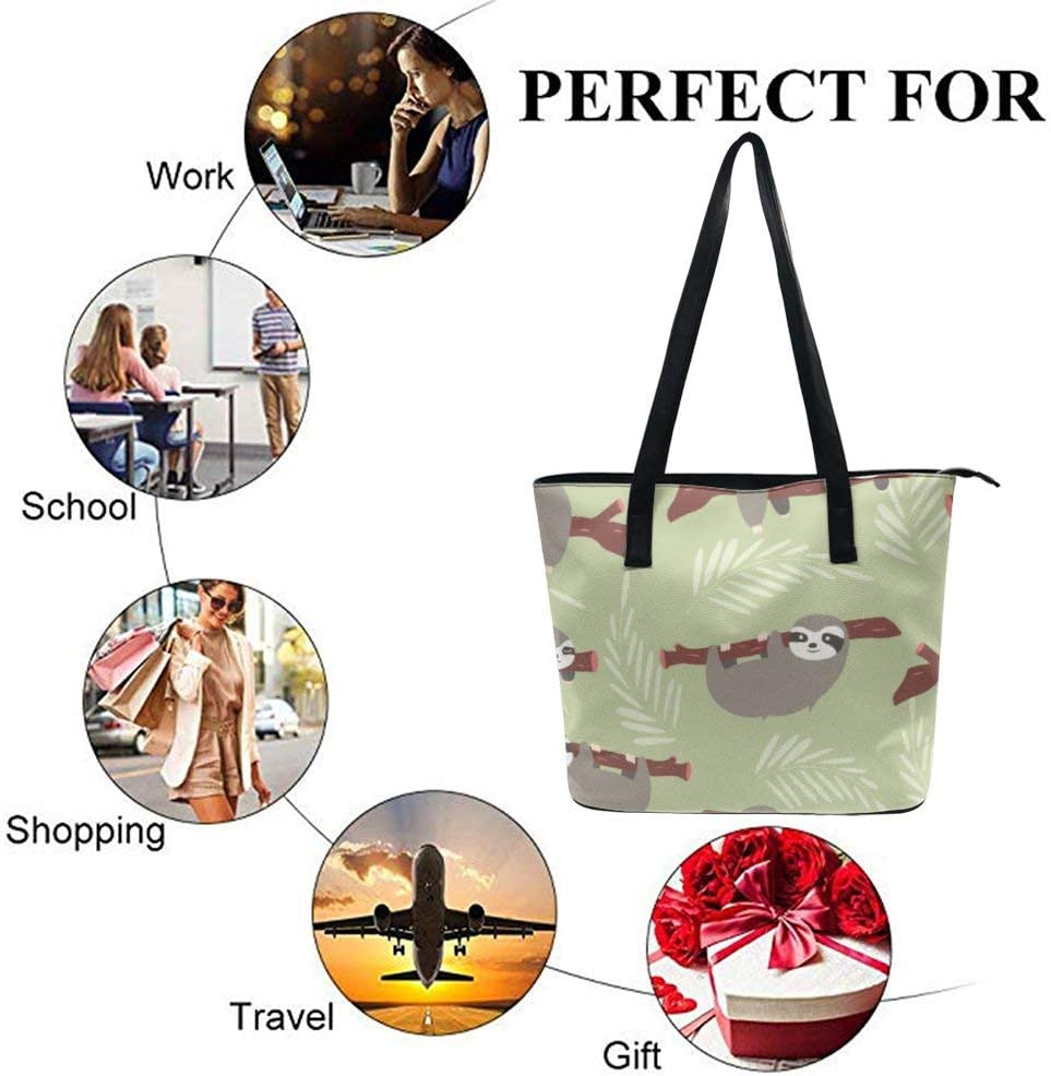 NiYoung Women Girls Tote Bag Luxury PU Leather Handbags Casual Ladies Shoulder Bags for Travel Business Shopping Daily Use Seashells Starfish on White Sand